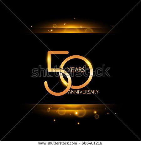50 years golden anniversary celebration logo