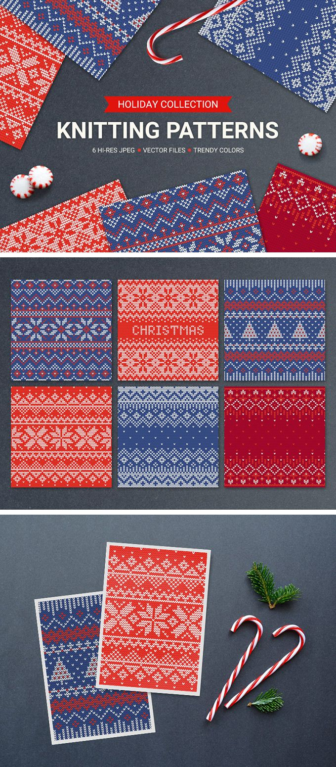 wedding card backgrounds vectors%0A   Knitting Seamless Patterns