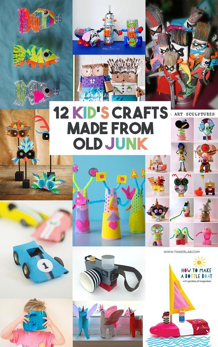 12 Craft Activities For Kids That Are Made Using Old Junk - Let's Do Something Crafty