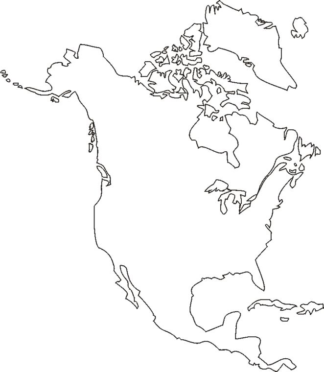 northamerica2 gif 662 760 school projects map printable maps