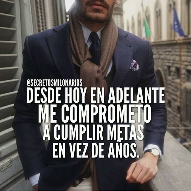 #secretosmillonarios Metas en vez de años  @secretosmillonarios #Dios  #mentesmillonarias #luxury #exito #motivation #libertadfinanciera #emprendedor #colombia #repost #2016 #metas #frase #success