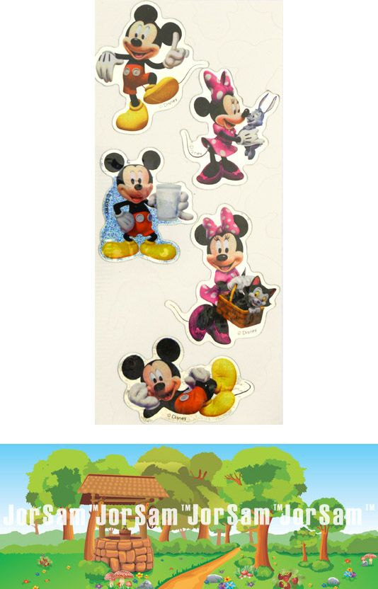 Minnie and Mickey Mouse D.I.Y. licensed sticker money box