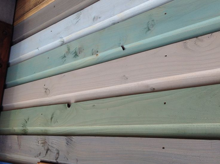 We have colour stained each slat differently for a really earthy finish.