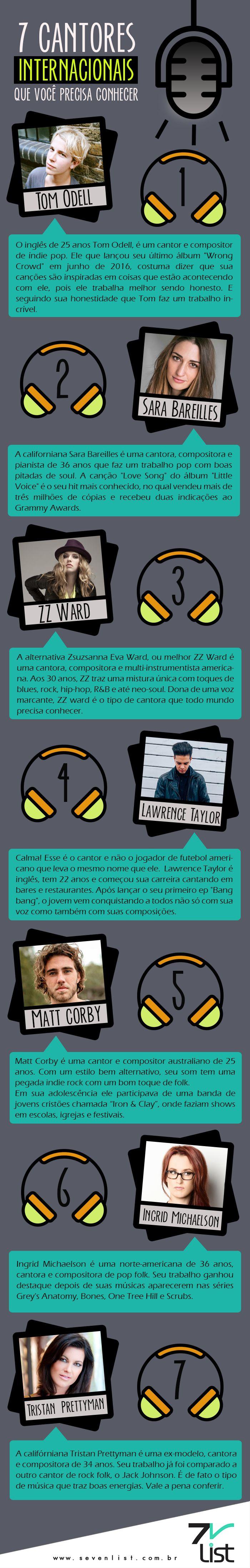 #Design #Music #Entretenimento #Infográfico #Singer #Sing www.sevenlist.com.br