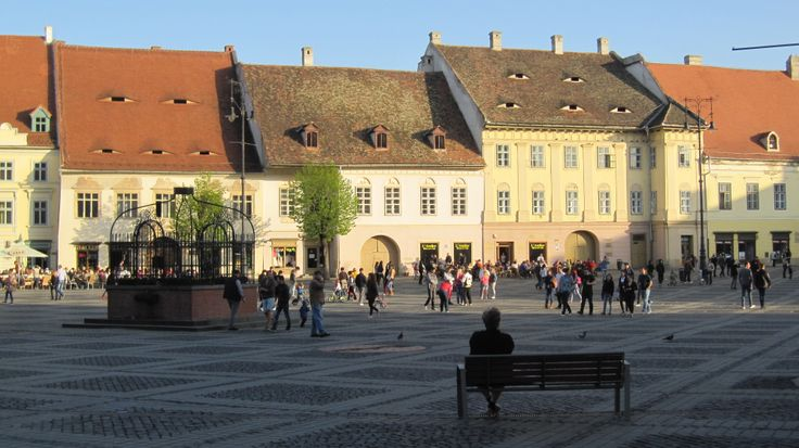Sibiu in Transylvania, the city center