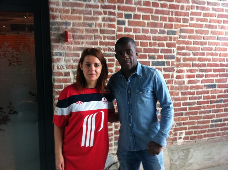 Lydie a rencontré Rio Mavuba au cours d'un entraînement VIP au LOSC !