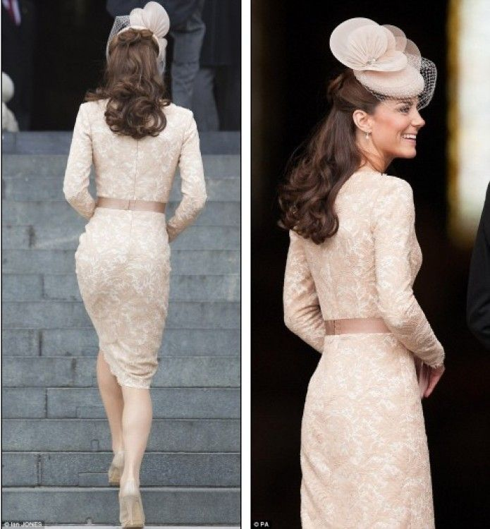 Alexander McQueen Champagne Lace Dress