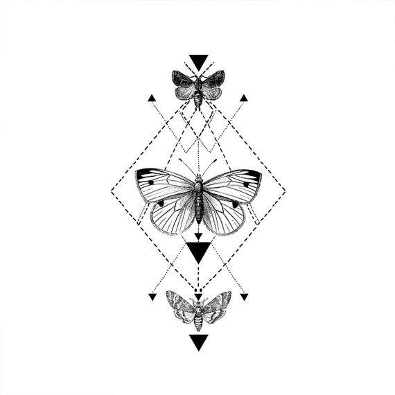 Tribal Butterfly tattoo Pattern Tattoo Temporary by ArrowTattoo