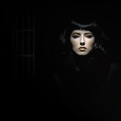 #Portrait #photography. Light/dark Negative Space