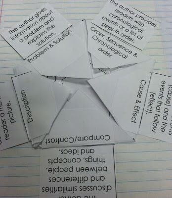 Text structure foldable--great for interactive notebooks!