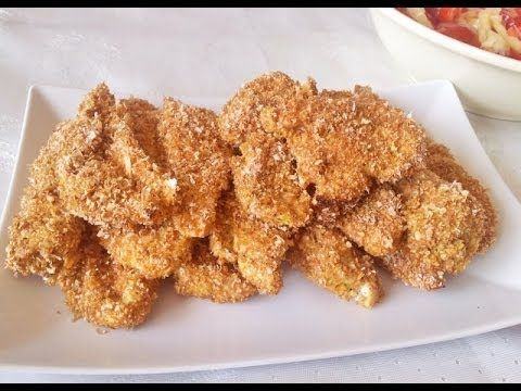 Reteta strips piept de pui cu iaurt si tarate la cuptor- dieta dukan