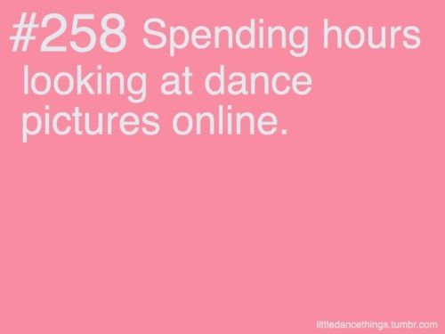 Dancer problems I do this all the time