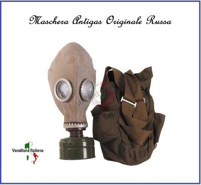 Maschera Antigas Russa Originale Con Filtro E Borsa Nuova Art.219248
