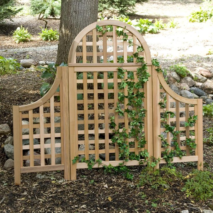 Cedar Wood Arch Trellis With Optional Side Wings   Accentuate The Elegance  Of Your Garden Or Patio With The Arboria Andover 5 Ft.