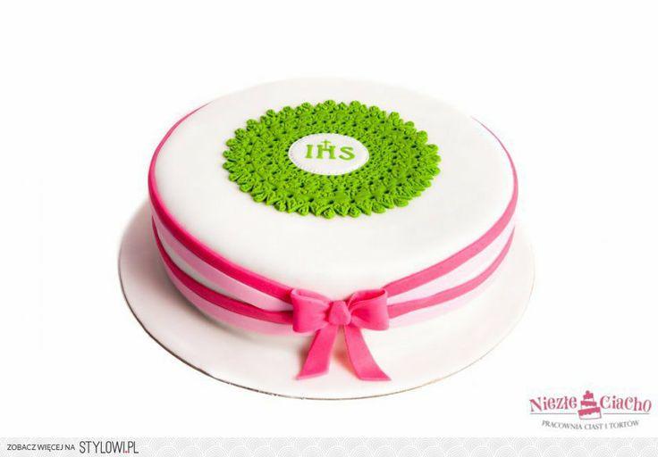 IHS, I Komunia Święta, tort z okazji I Komunii Św., tort pierwszokomunijny, przyjęcie pierwszokomunijne, Tarnów