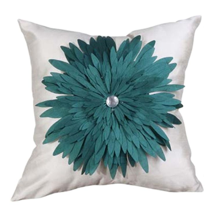 Green Dahlia Floral Polyester Decorative Pillow Cover  #cushion #pillows #decor #pattern #modern #homedecor #livingroom