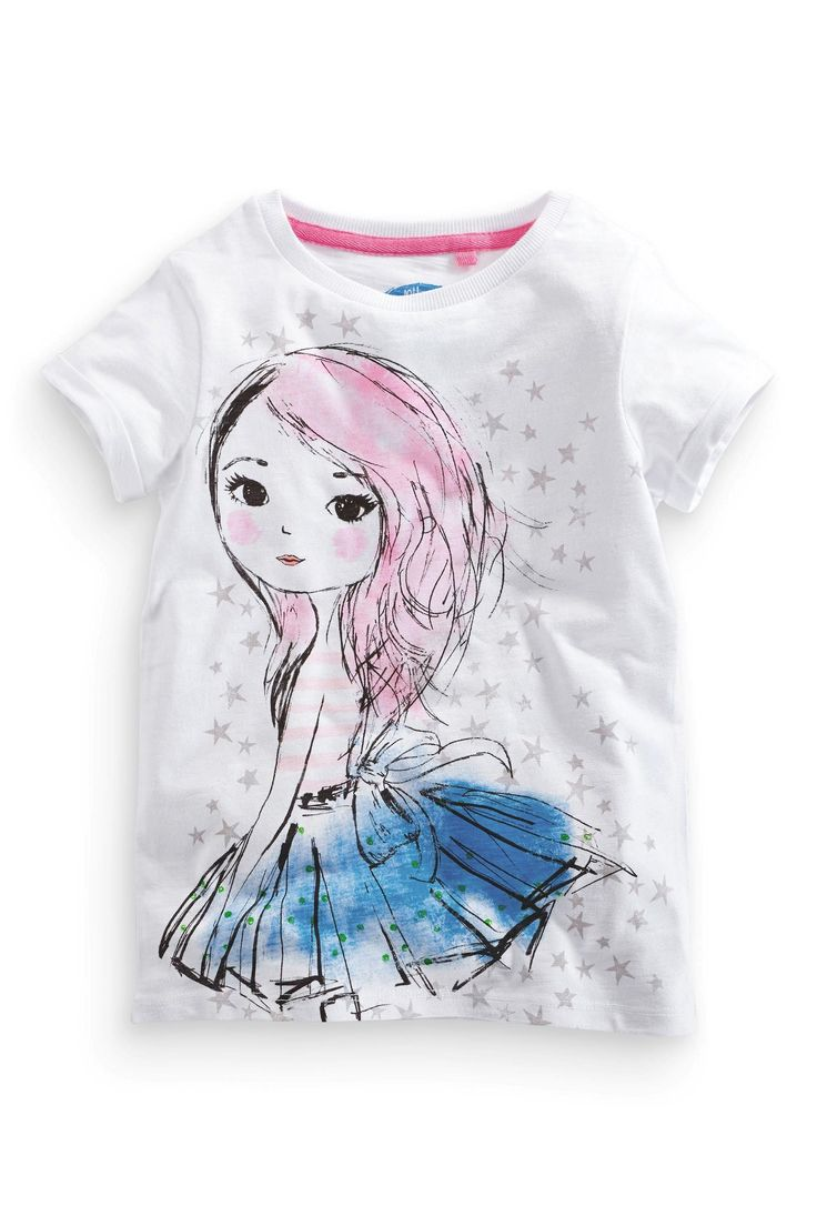 Buy Girl White T-Shirt (3-16yrs) from the Next UK online shop
