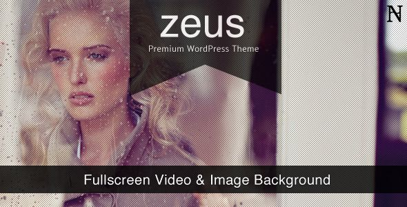 Zeus - Fullscreen Video & Image Background - ThemeForest Item for Sale