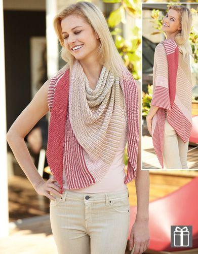 Met dit makkelijke breipatroon van Katia kun je een omslagsjaal breien. Deze sjaal gebruik je als omslagdoek en sjaal tegelijk. Ideaal voor beginners.