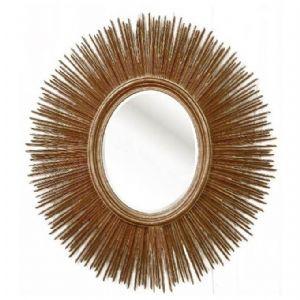 Huge Gold Leaf Sunburst Mirror!
