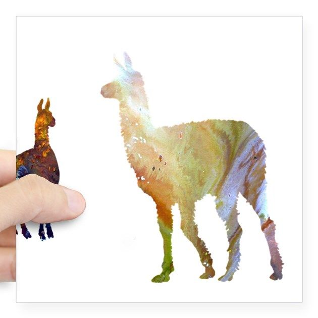 Llama Square Sticker 3 X 3 Llama Sticker By Jollymarten Llama Arts Art Animal Silhouette