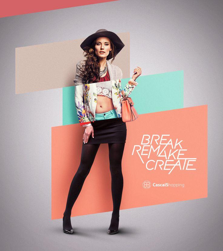 Реклама одежды в постере