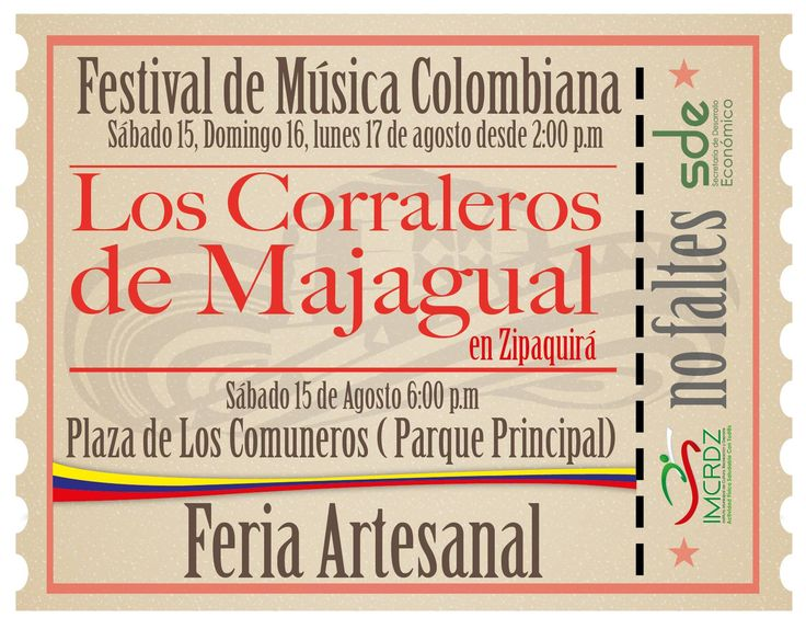 Este #FindeSemana no te pierdas el Festival de Música Colombiana y Feria Artesanal en #Zipaquirá Realmente Mágica. #Zipaquiráturistica #FestivalSalinero2015 #Colombia #larespuestaesCOlombia