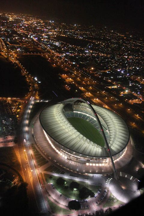 Moses Mabhida Stadium in Durban, KwaZulu-Natal, South Africa. Take the sky car to the top and get the most incredible views of Durban.