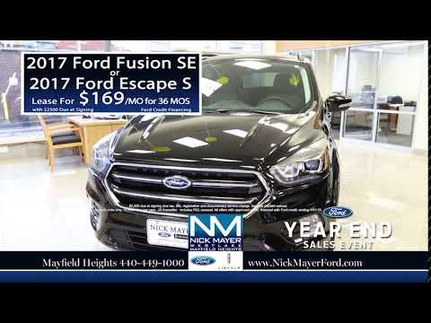 Lease a New Ford Fusion Wickliffe OH at Nick Mayer Ford