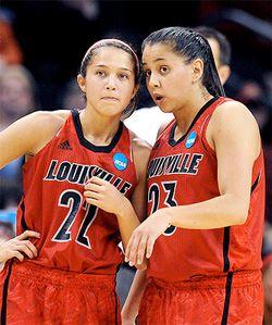 Jude and Shoni Schimmel of the Louisville Cardinals womens basketball team