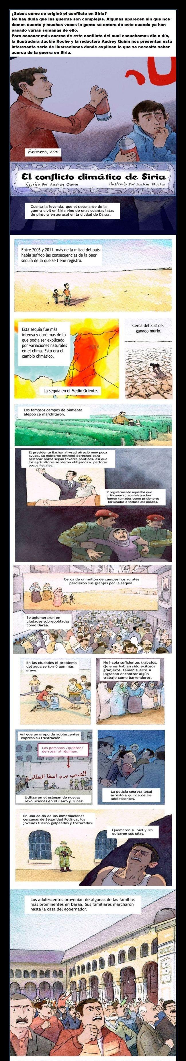 Cómic muy ilustrativo para entender algunas causas de la guerra de Siria