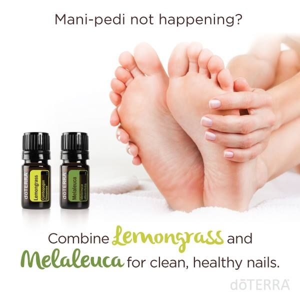 Lemongrass and Melaleuca essential oils are excellent at helping to rejuvenate nails. Rub 1 drop onto your cuticles to help your nails look their best.