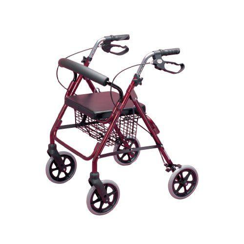 #bebe Homecraft – Andador con frenos y 4 ruedas, color rojo