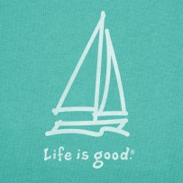 "Women's Sailing Icon print for ""Life is Good"""
