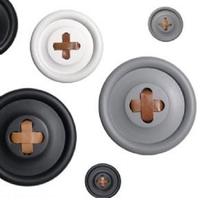Large Button Wall Hook by HK Living