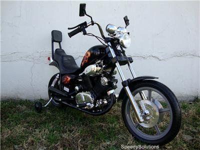 Kids Electric Power Ride On Motorcycle Harley Wheels Bk