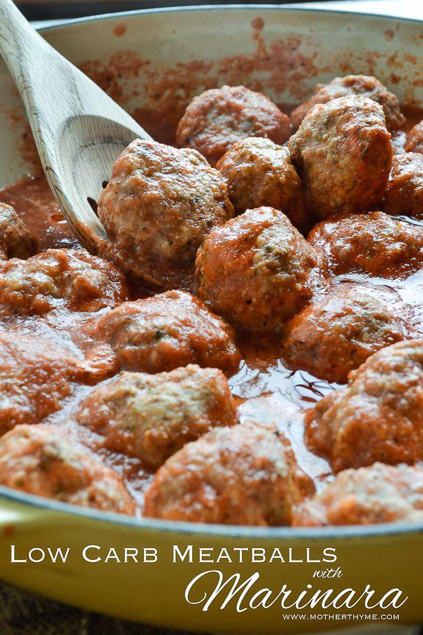 Low Carb Meatballs with Marinara | Recipe | Low Carb