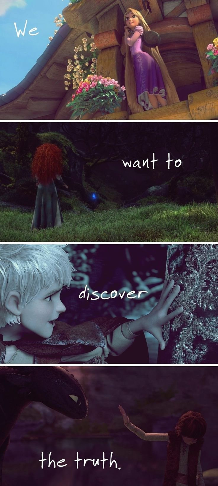 jack frost hiccup merida | Jack, Merida, Hiccup and Rapunzel - Found this cute