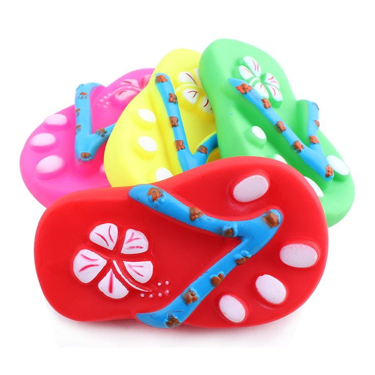 2016 New Dogs Toys Plastic Gum Squeak Sound Slipper For Dogs Cats Pets Bite Proof Non-toxic-C5 #Affiliate