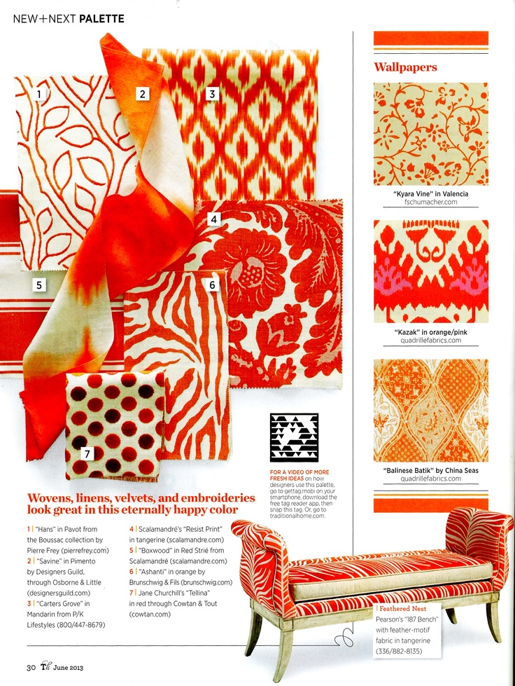 Tangerine dream spotted in the June issue of Traditional Home magazine!