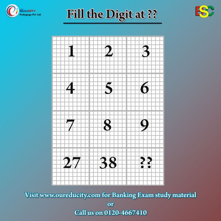 Fill the Digits at ?? position #educity #riddle. RiddlesCrossword  sc 1 st  Pinterest & 10 best Mind Tweezers images on Pinterest | Crossword Fun time ... 25forcollege.com