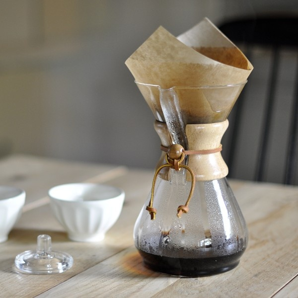 """Reminds my of my aunt! Makes great coffee!    Designed in the 40's by a scientist - """"Chemex"""" 8 cup coffee maker"""