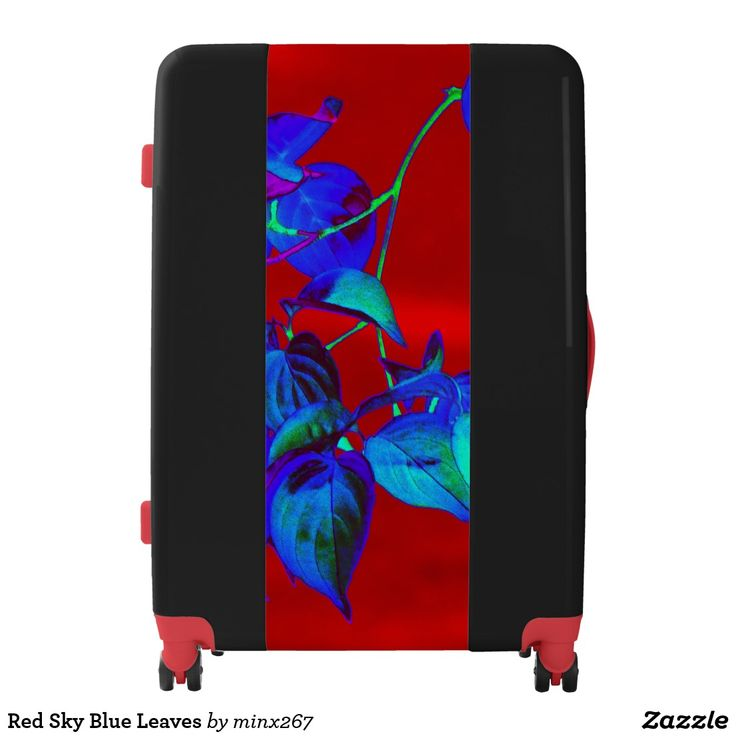 Red Sky Blue Leaves Luggage