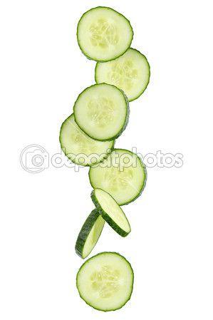 Plátky čerstvé okurky