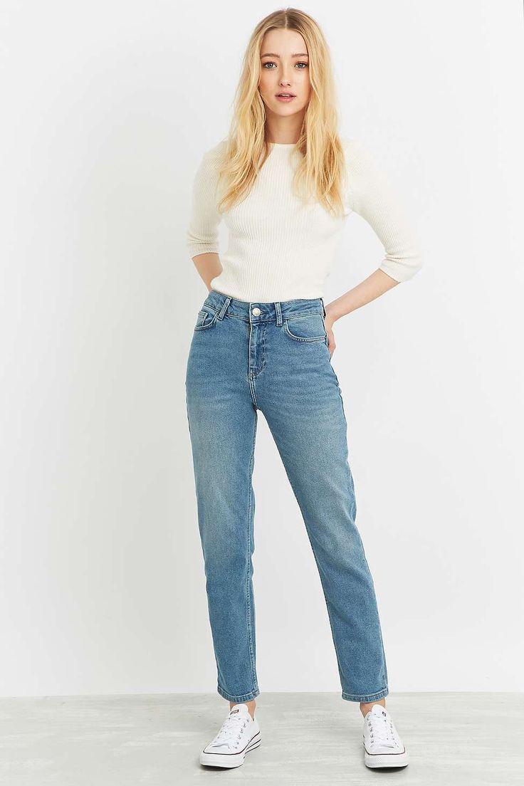 BDG - Nouveau jean droit Girlfriend bleu clair - Urban Outfitters