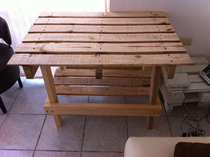 Mesa para tv de tarima 100 madera reciclada y rescatada - Tarimas de madera recicladas ...