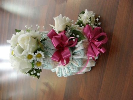 www.weddingbunchesandblooms.com.au   Nappy Cakes, Bikes, and Prams, lovingly created and delivered worldwide. Book yours today. Created by Millie weddingbunches@optusnet.com.au