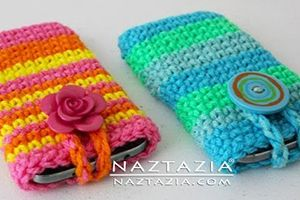 DIY Free Pattern and YouTube Tutorial Video Cell Smart Phone Case for iPhone Android Samsung LG Blackberrry iPod by Donna Wolfe from Naztazia
