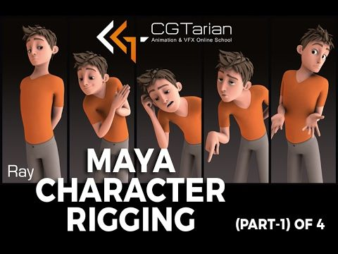 CHARACTER RIGGING IN MAYA (part-1 of 4) in hindi - YouTube