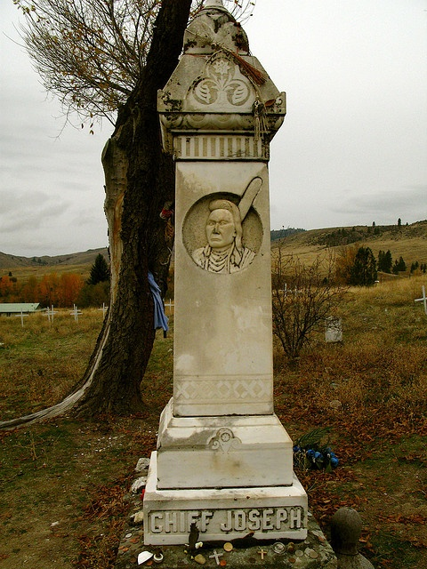 Chief Joseph memorial ( aka Hin-mah-too-yah-lat-kekt, or Thunder Rolling Down the Mountain). A man of supreme courage, honor, and dignity.